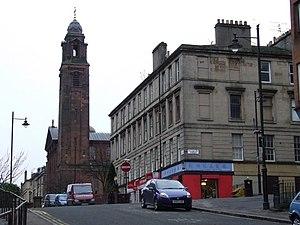 St Aloysius Church, Glasgow - View along Rose Street