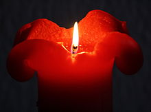 Rote Kerze red candle.JPG
