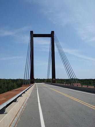 James Bay Road - Bridge over the Rupert River.