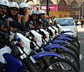 Row of police bikes in San Francisco.jpg