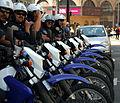 Row of police bikes in San Francisco.jpg