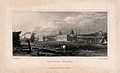 Royal Naval Hospital, Greenwich, from the Isle of Dogs, with Wellcome V0013296.jpg