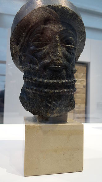 "Hammurabi - This bust, known as the ""Head of Hammurabi"", is now thought to predate Hammurabi by a few hundred years (Louvre)"