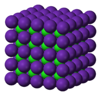 Rubidio CsCl de klorido strukturi