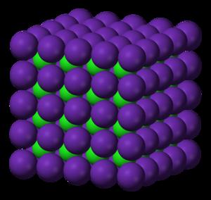 Rubidium chloride - Image: Rubidium chloride Cs Cl structure 3D ionic