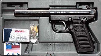 Sturm, Ruger & Co. - Ruger's MK II 22/45 target pistol.