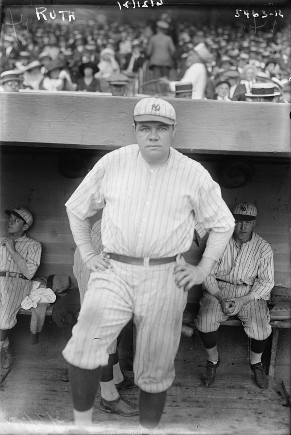 Babe Ruth was voted no. 2 Ruth1921.jpg