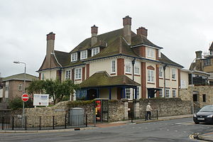Ryde School with Upper Chine - The Fiveways building of Ryde School.