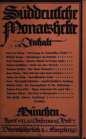 Süddeutsche Monatshefte - Image: Süddeutsche Monatshefte 1913