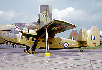 Scottish Aviation Twin Pioneer - RAF Twin Pioneer CC.1 wearing sand camouflage in service in 1968.