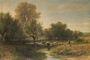 Oosterbeek - Image: SA 698 Landschap te Oosterbeek Landschap met vee (provincie Gelderland)