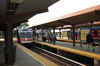 69th Street Transportation Center - Image: SEPTA Route 100at 69th Street Terminal 2007