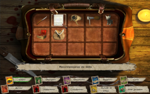 Item (gaming) - A player's inventory of objects in the adventure game Sherlock Holmes Versus Jack the Ripper