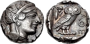 Matthew 17 - An Athenian tetradrachm from after 499 BCE.
