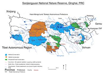 English: Sanjiangyuan National Nature Reserve,...