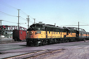 Spokane, Portland and Seattle Railway - Image: SP^S 801 Lv PDX July 1970cr Flickr drewj 1946