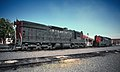 SP 4370 and 4423 at Medford, OR in July 1986 (33196782466).jpg