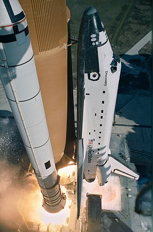 STS-51-C - Discovery launches on STS-51-C