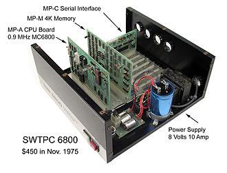 Computer case - Image: SWTPC6800 open
