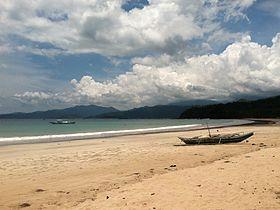 Plage de Sabang à Palawan