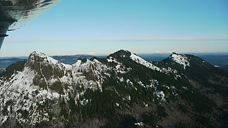 Saddle Mountain State Natural Area - Image: Saddle Mountain State Park from the air