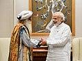 Sadhguru Jaggi Vasudev calling on the Prime Minister, Shri Narendra Modi, in New Delhi on October 03, 2017.jpg