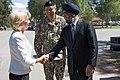 Saeimas priekšsēdētāja piedalās NATO paplašinātās klātbūtnes kaujas grupas sagaidīšanā Ādažos (35403825055).jpg
