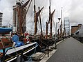 Sailing barges in South Dock 6637.JPG