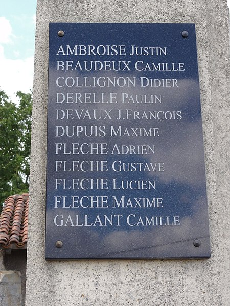 Saint-Supplet (Meurthe-et-M.) monument aux morts