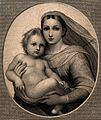 Saint Mary (the Blessed Virgin) with the Christ Child. Engra Wellcome V0033746.jpg