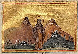 September 24 (Eastern Orthodox liturgics) - Image: Saint Thecla (Menologion of Basil II)