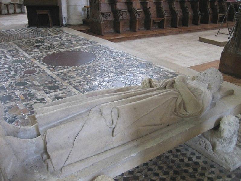 File:Saint benoit sur loire basilique pavement.jpg
