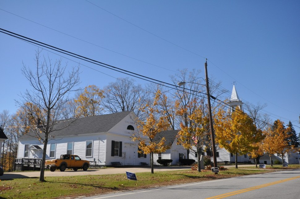 Old town hall and church (now historic society)