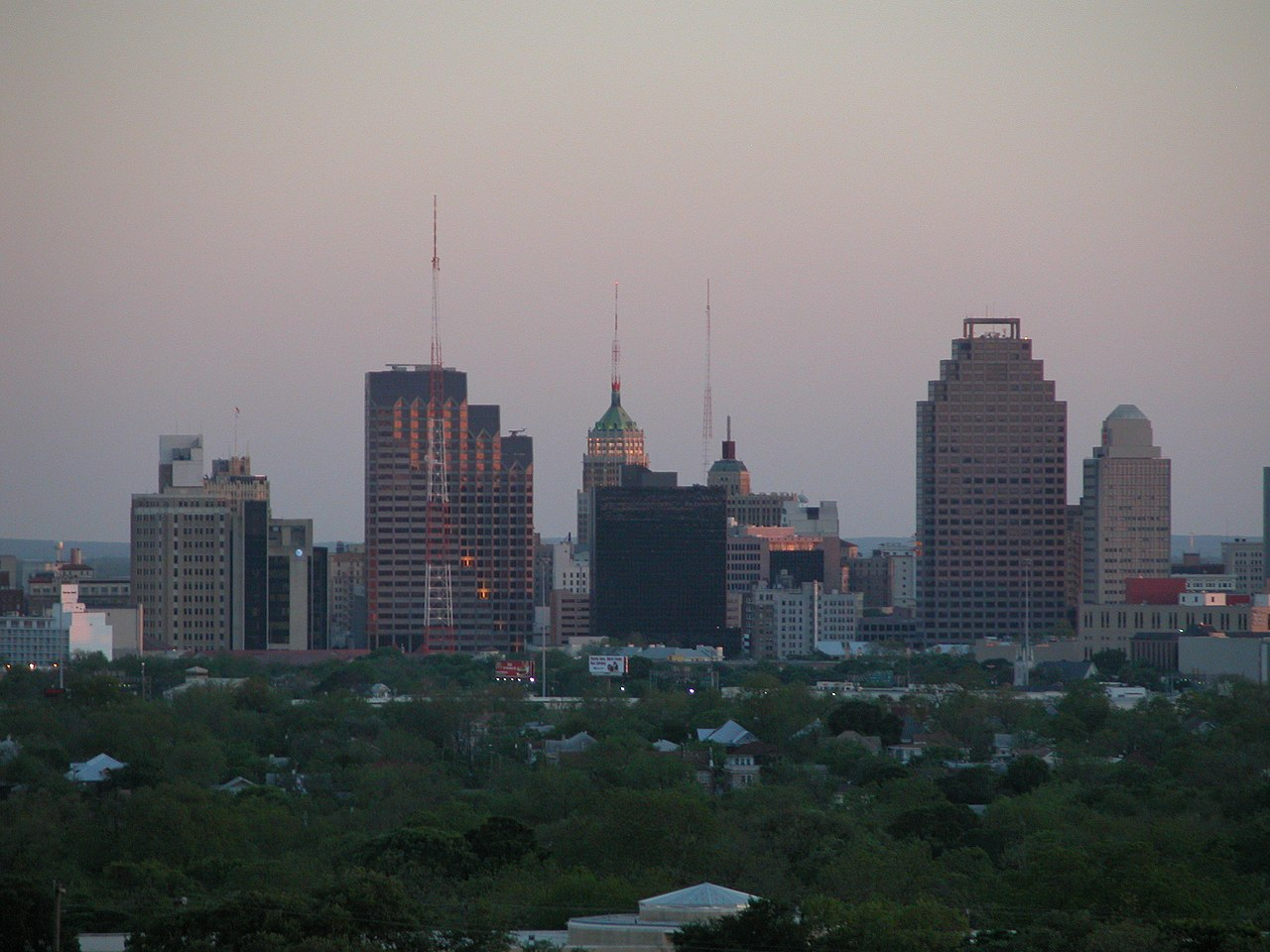 File San Antonio Texas Skyline From North Jpg Wikimedia