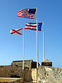 San Juan. Fort San Felipe del Morro. Flags. Puerto Rico (2746956969).jpg