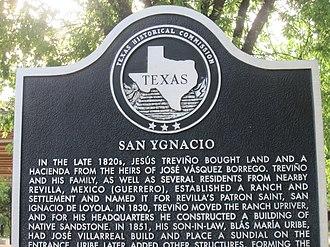 San Ygnacio, Texas - Historical marker in San Ygnacio