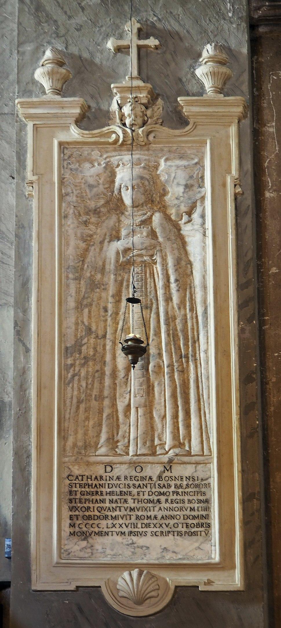 Santa Maria in Aracoeli Grabmal der Königin Katarina von Bosnien