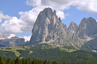 Langkofel mountain in the Dolomites