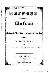 Saxonia Museum für saechsische Vaterlandskunde. Band 3