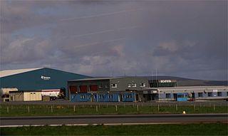 Scatsta Airport airport on Shetland in Scotland