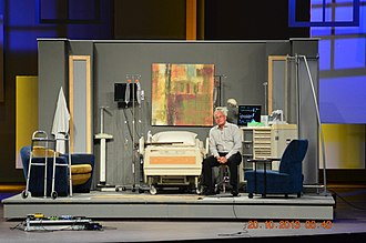 Theatrical scenery - Image: Scenic Design by Glenn Davis, Hospital Set 2013