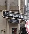 Schild Bolkerstraße zur Ecke Marktplatz, Düsseldorf-Altstadt. Familie Bolke, erste Anlieger der um 1400 angelegten Straße.jpg
