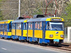 Leipziger Verkehrsbetriebe - Image: Schkeuditz Tatra