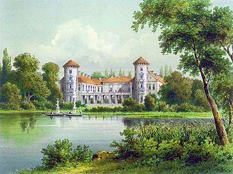 Rheinsberg Palace - Rheinsberg Palace around 1860, Alexander Duncker collection