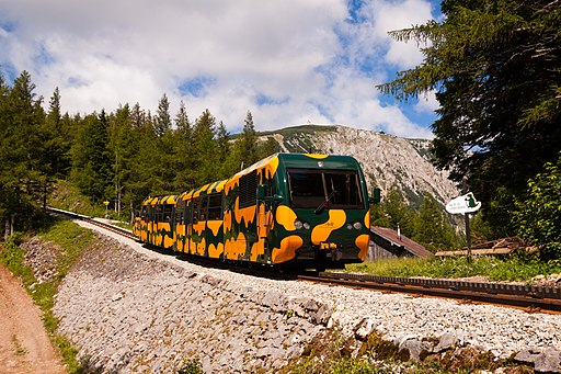 Schneebergbahn, oberhalb Baumgartner