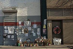 Crime in New York City - Memorial to Sean Bell