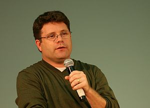 The actor Sean Astin giving a talk at the Univ...