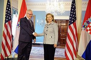 Croatia–United States relations - Ivo Josipović and Hillary Clinton