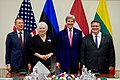 Secretary Kerry Poses for a Photo With the Foreign Ministers of Latvia, Estonia, and Lithuania Before a Meeting Amid NATO's Biannual Foreign Ministerial Meetings in Brussels (27045697481).jpg