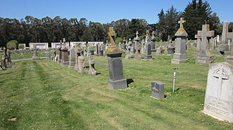 Colma, California - A cemetery in Colma